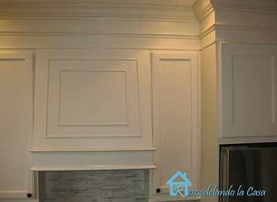 Add height to kitchen cabinets by closing gap between cabinets and ceiling with MDF and molding (tutorial): The Gap, Kitchens Remodel, Home, Above Kitchens Cabinets, Reshaping, Kitchens Inspiration, Above Cabinets, Kitchens Ideas, Above Kitchen Cabinets