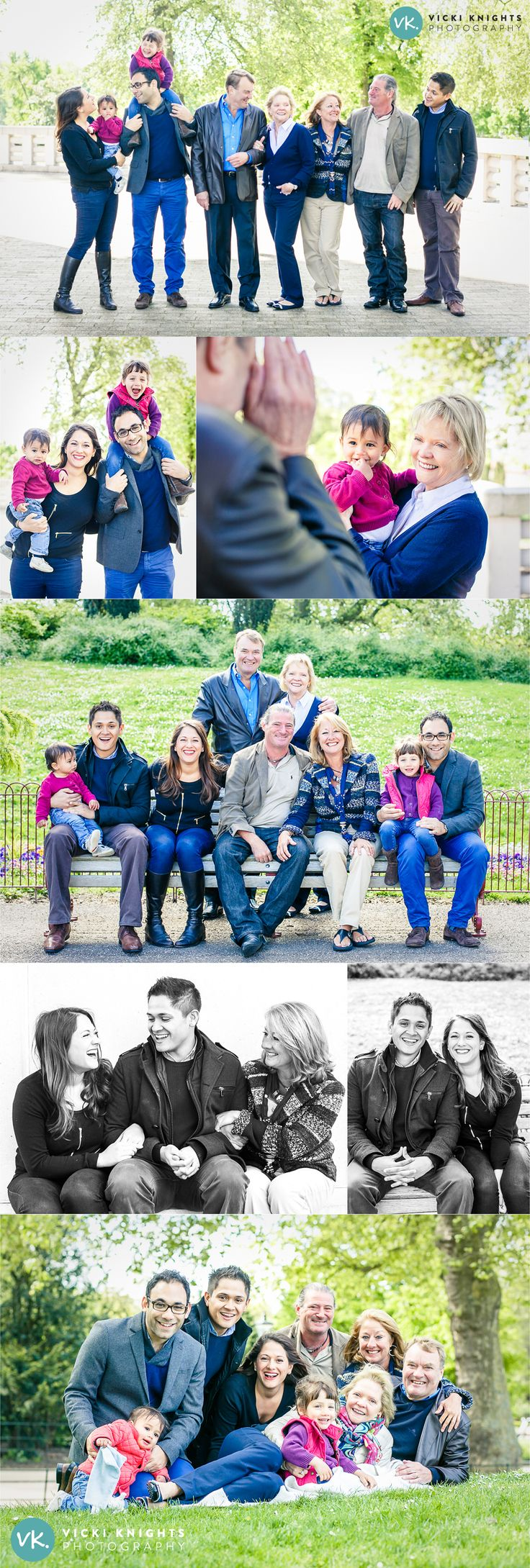 Big family photo shoot poses | Vicki Knights Photography
