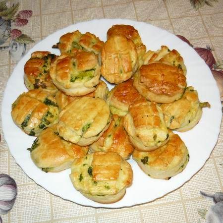 wild garlic pogácsa