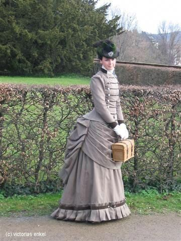 second bustle era day dress by victorias enkel spaete tournuere