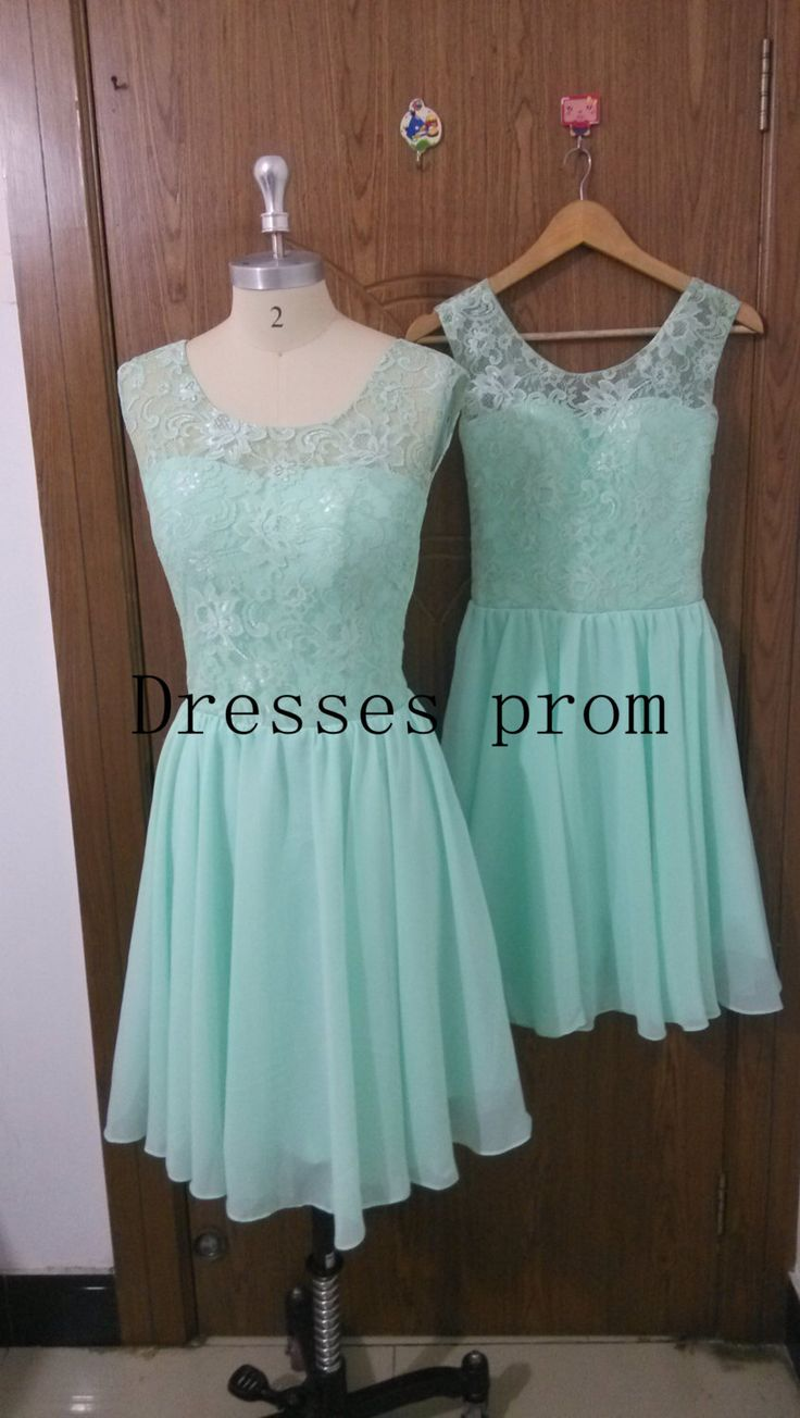 2015 cute mint Chiffon homecoming dress with Lace,short stunning prom dresses under 50,cheap chic women gowns for holiday party hot. by Dressesprom on Etsy https://www.etsy.com/listing/204189892/2015-cute-mint-chiffon-homecoming-dress