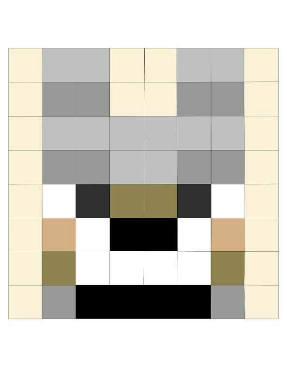 Minecraft wolf | Quilting | Pinterest | Minecraft Wolf, Minecraft ...