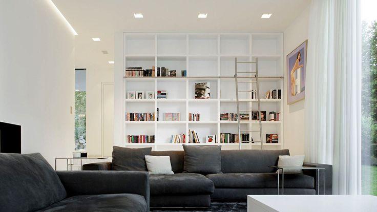 Modern Clean Home Library