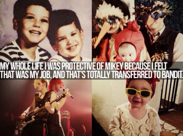 Gerard is very protective of his brother and daughter <3