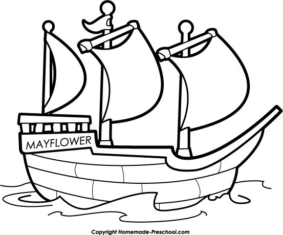 mayflower coloring pages for preschool - photo#11