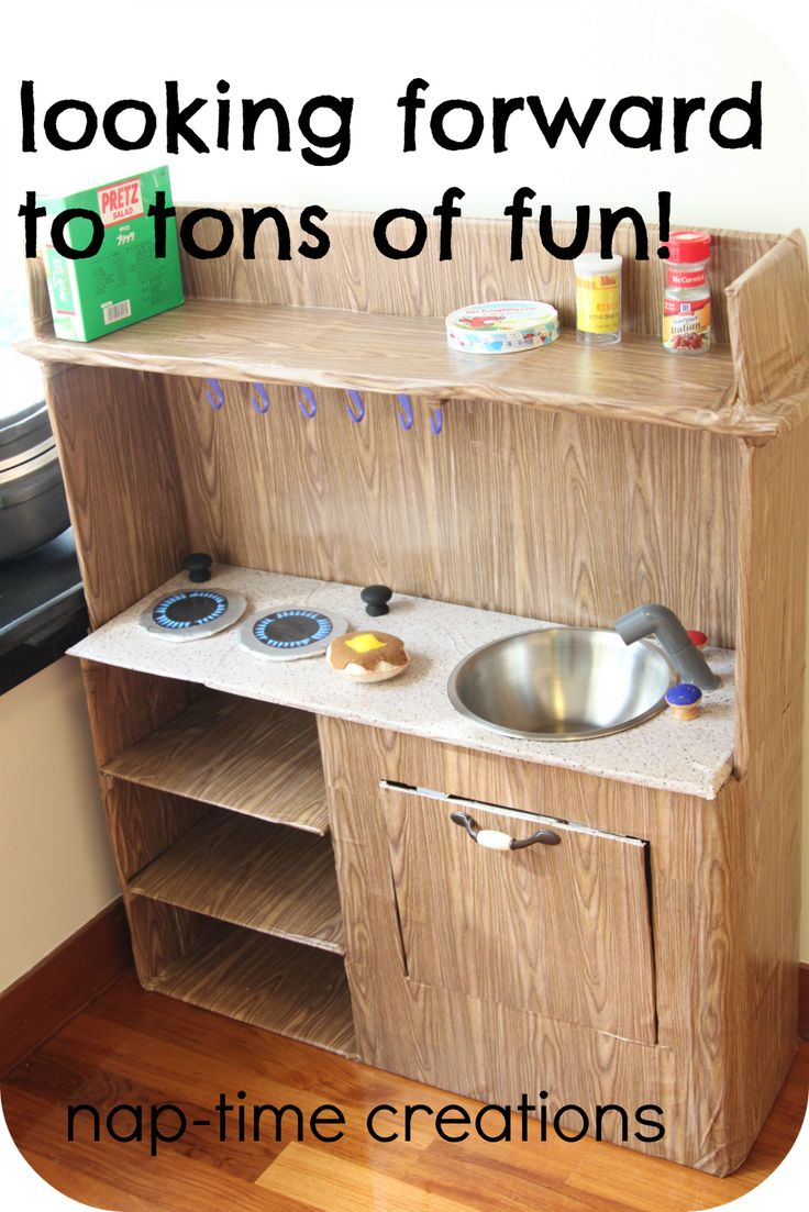 www.nap-timecreations.com: {wooden} Cardboard Kitchen-for my boys
