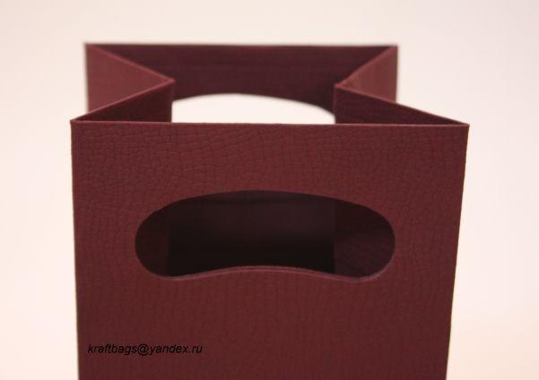 """Бумажный пакет из бумаги с тиснением """"иммитация кожи"""""""