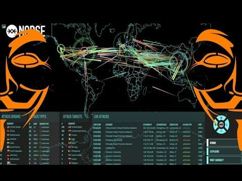 Anonymous - Christmas Day 2016 Global Cyber Attacks Botnet DDoS Attacks Norse Attack Map - YouTube