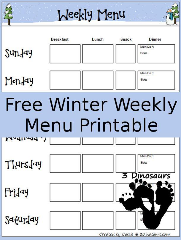 Více než 17 nejlepších nápadů na Pinterestu na téma Weekly Menu - menu for the week template