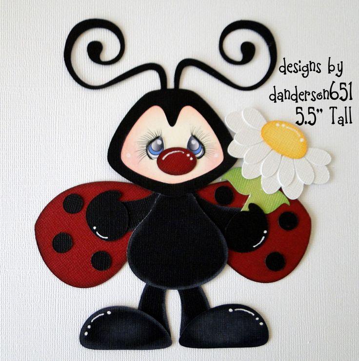 Lady Bug Paper Piecing Set PreMade 4 Borders Scrapbooks Albums danderson651