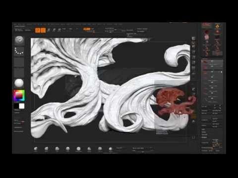 Creating organic Environment with Zbrush, Keyshot and Photoshop - YouTube