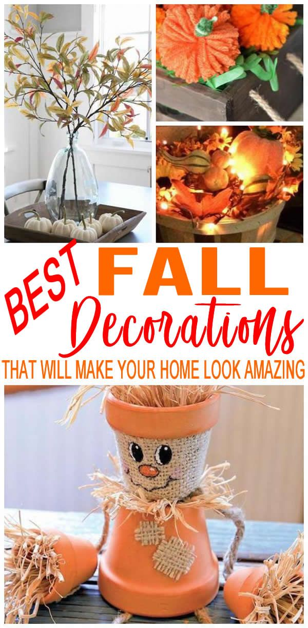 Best Fall Decor To Make Your Home Look Like Martha Stewart Decorated Easy Diy Craft Projects For Amazing Decorat