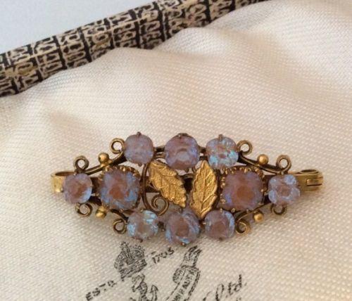 Victorian-Vintage-Jewellery-Superb-Genuine-Saphiret-Crystal-Brooch