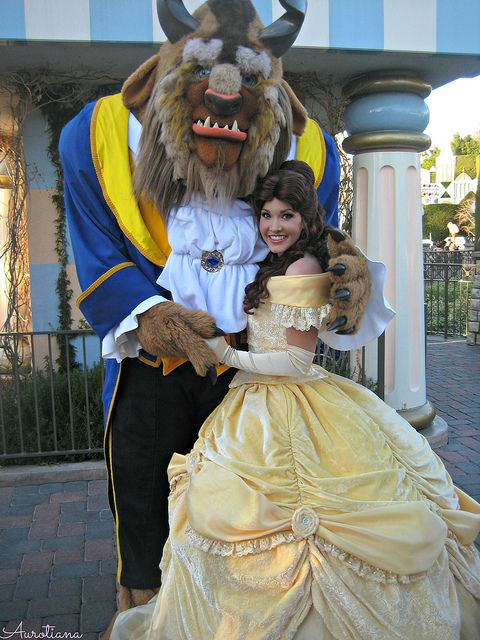 True Love Week: Belle & The Beast  I kinda wish they'd change his yellow to a little lighter to match her dress now.