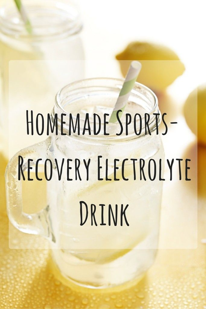 Finally, a sports drink with no additives or caffeine Homemade Electrolyte Drink Recipe for Runners