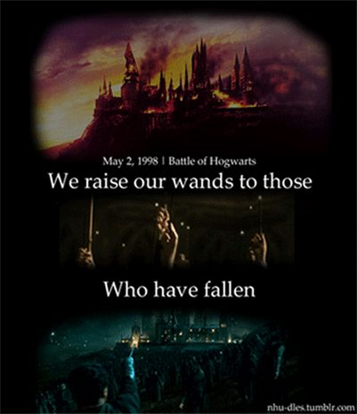 If celebrating the battle of Hogwarts isn't nerdy, I don't know what is