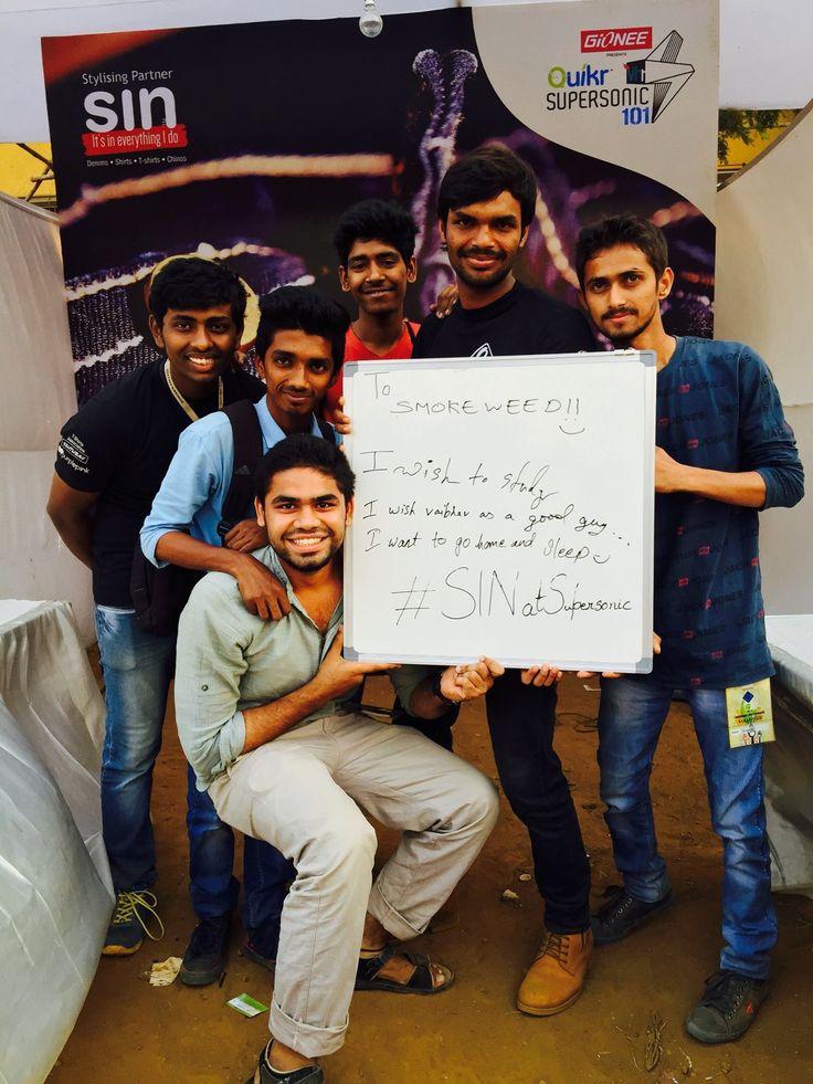 Sinful confessions at Bhavans College, Mumbai. #sindenim