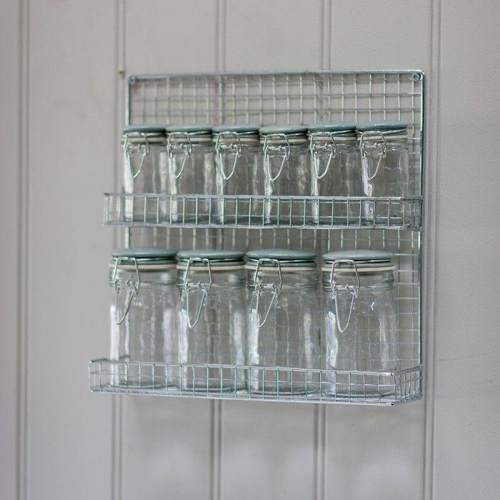 Set 10 Portaspezie con contenitore a parete