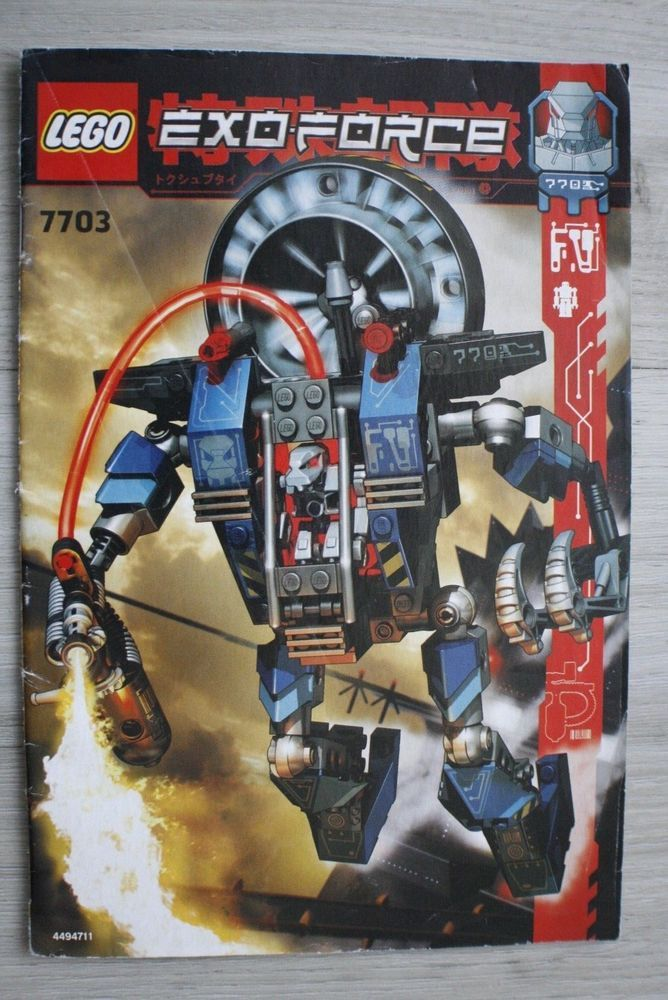 Details About Lego 7703 Instruction Book For Exo Force Fire Vulture
