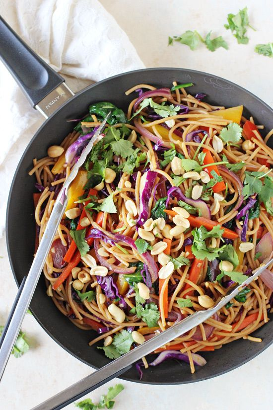 Rainbow Vegetable Lo Mein - Cook Nourish Bliss