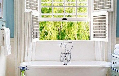Modern bathroom window ideas