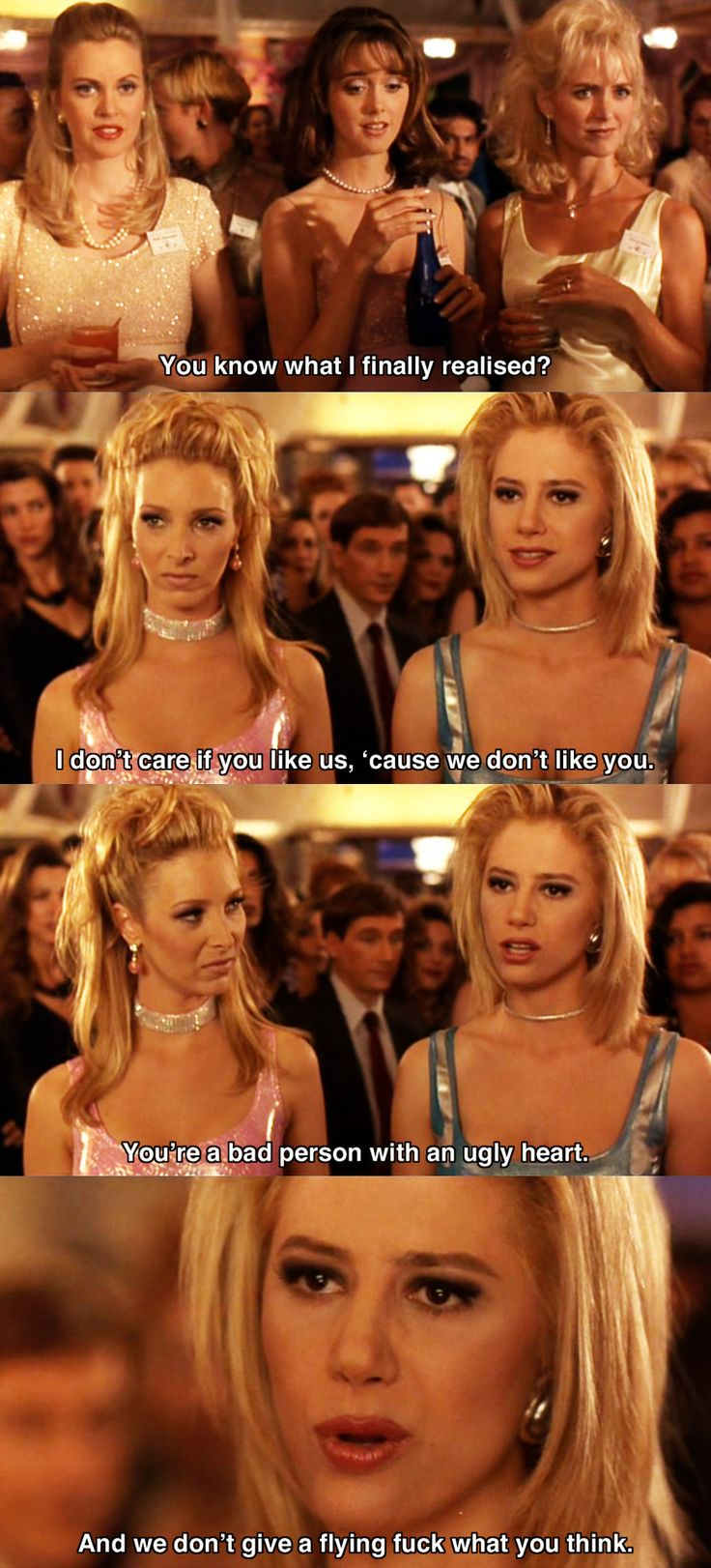 You know what I finally realized? ~ Romy and Michele's High School Reunion (1997) ~ Movie Quote #amusementphile