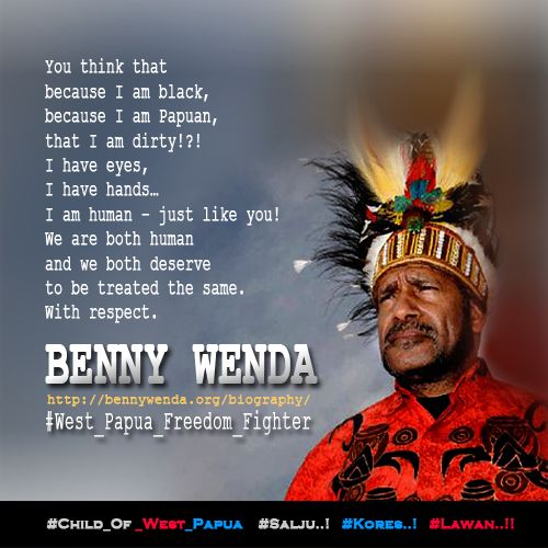 Benny Wenda - I am human - just like you..! http://bit.ly/1zbXm9m   #West_Papua_Freedom_Fighter #Free_West_Papua #Salju #Kores #Lawan