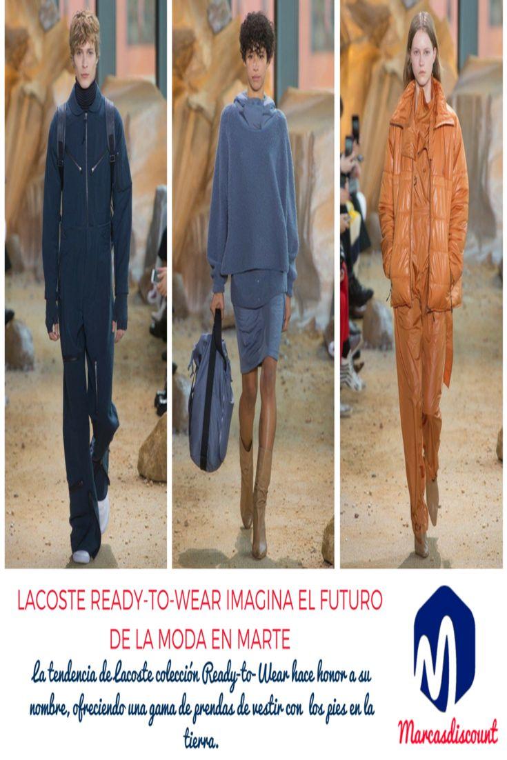 Cuando los #modelos desfilaron por la pasarela de la #colección de #otoño 2017 para el espectáculo #Lacoste Ready-to-Wear, hubo algo diferente y es que caminaban sobre grava de roca roja.