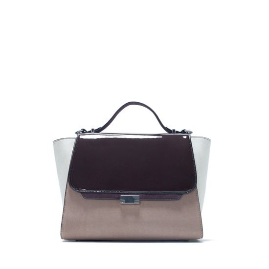 Трёхцветная сумка-келли , ZARA, где купить: Zara
