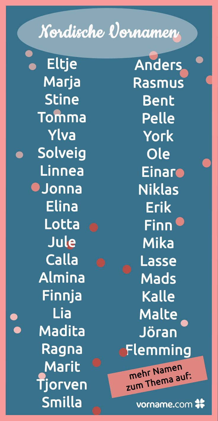 Skandinavische Vornamen nach Sprache und Herkunft der Nordischen Namen