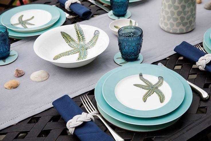 Jersey Pottery Neptune Starfish tableware #JerseyPottery #ceramics #Neptune #starfish