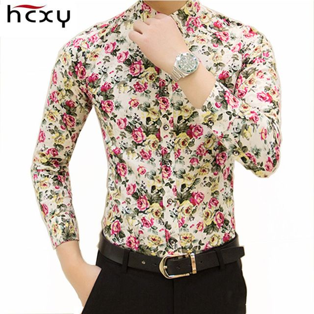 Good price HCXY 2017 new fashion spring flower shirts for men casual designer large size men floral shirts camisas masculinas social just only $11.61 with free shipping worldwide  #shirtsformen Plese click on picture to see our special price for you