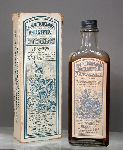 Dr. G. H. Tichenor's Antiseptic Refrigerant; 70% alcohol (drug active ingredients); after 1930