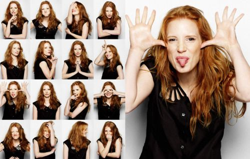 Jessica Chastain {Favorite actress she is remarkably talented- The Help, The Debt, Tree of Life, Texas Killing Fields, Take Shelter many more.}