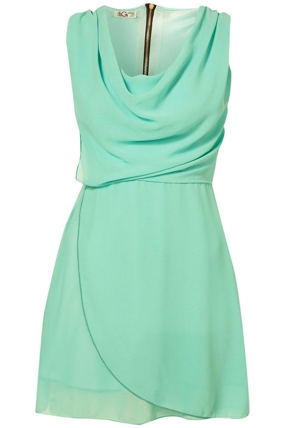 Mint sleeveless: Cowls Neck, Mint Green, Summer Wedding, Dreams Closet, Bridesmaid Dresses, Mint Dresses, Mint Colors, Wraps Dresses, Green Dresses