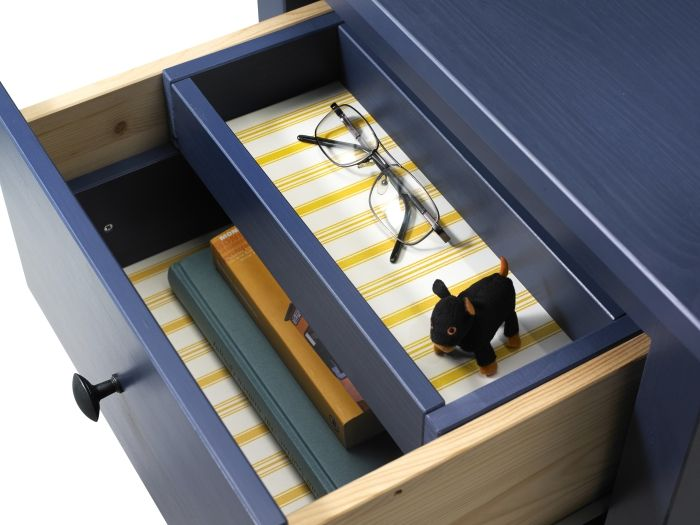 HEMNES Chest with 2-drawers- its small drawer insert provides safe keeping for start-of-the-day essentials.
