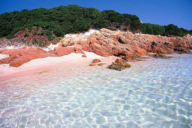 Spiaggia Rosa (Pink Beach), Budelli, Sardinia, Italy