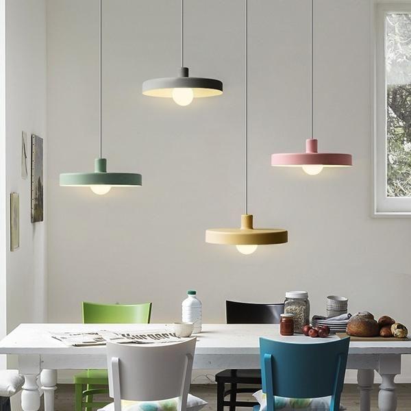 Macaroon Disk Pendant Light Ceiling Lamp Down Light E26 E27 Bulb Included 40w Ceiling Lamp Ceiling Pendant Lights Pendant Light