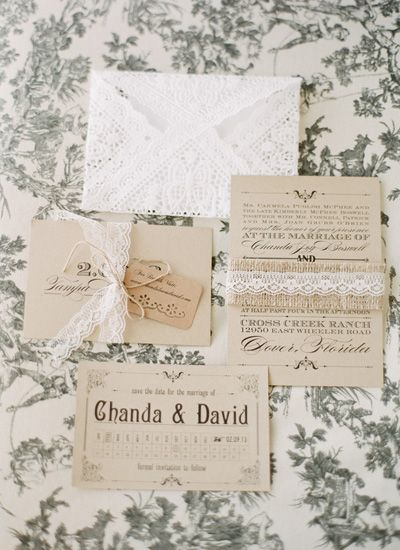 lace vintage-inspired stationery suite | Lexia Frank #wedding
