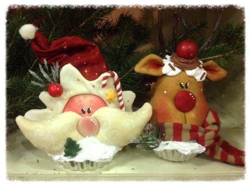 Cartamodelli Natale 2013 : Cartamodello Babbo-renna-ginger sui pirottini