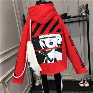 韓国 ストリート スケーター ステージ衣装 ダンス衣装 ガールズ ファッション HIPHOP 長袖 パーカー レディース ダンス 衣装 ヒップホップ 派手 カワ な 服 原宿 個性的 ロゴ トップス