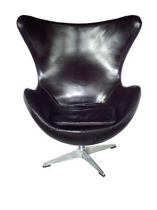67% OFF CDI Vintage Leather Copenhagen Chair, Black