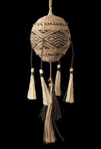 Poi Tāniko — Te ngau a Tāne by Karl Rangikawhiti Leonard, Māori artist (KX100601)