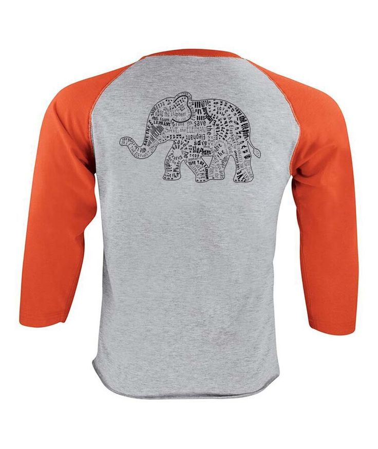 Save the Elephant Baseball T-shirt