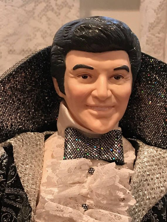 1986 Effanbee Liberace Doll http://etsy.me/2oL75YC #toys  #silver #black #doll #liberace #figurine #collectible