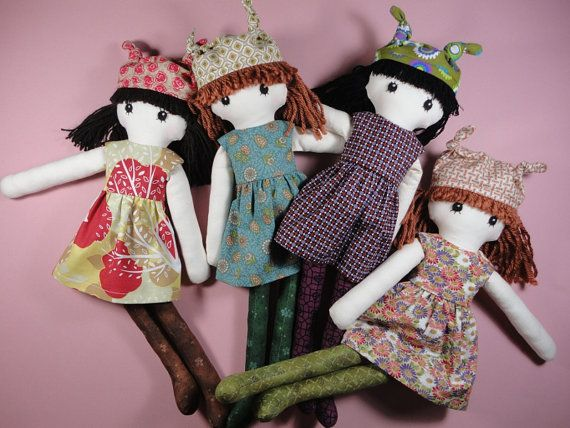 Cloth doll rag doll pdf pattern with detailed by Pupadou on Etsy