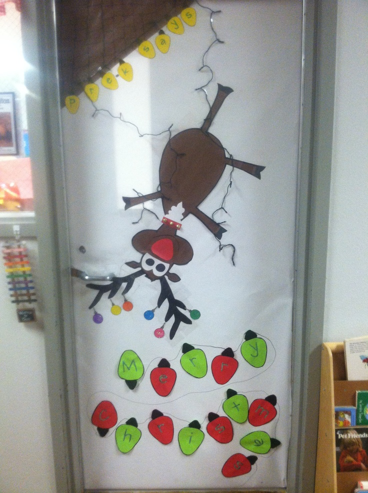 Reindeer Door Craft Ideas Pinterest Bulletin Board