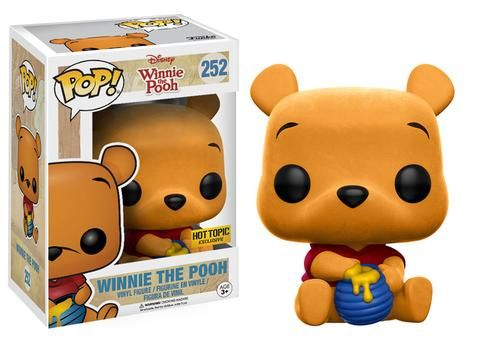 Winnie the Pooh: Flocked Winnie the Pooh Pop figure by Funko, Hot Topic exclusive