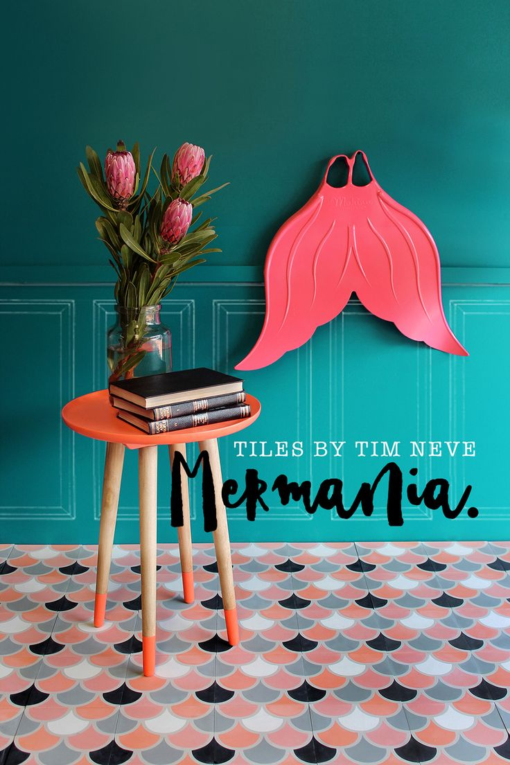'Mermania' Blush - Introducing the full debut range of tile designs by Stylist Tim Neve. Shop the range at store.timneve.com
