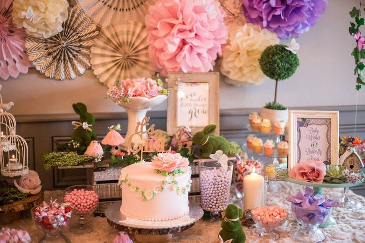 Enchanted Garden Baby Shower Party Ideas | Photo 4 of 76